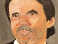 George W. Bush retrata a Aznar en su estreno como pintor