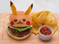 Hamburguesas con la cara de Pikachu como homenaje a Pokemon