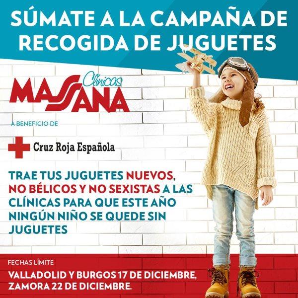 clinica massana participa en la recogida de juguetes de cruz roja